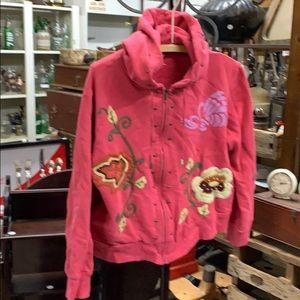 Ca I xl embroidered hoodie zip sweatshirt cute